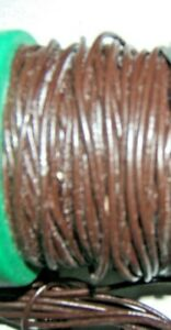 2m METRES REAL LEATHER  1.5mm ROUND CROSS SECTION BROWN THONG HIDE CORD NECKLACE