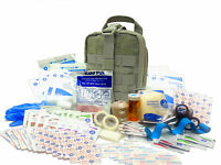 Military Rip-Away EMT First Aid Kit - IFAK Level 1 Army Medic OD Green #FA16