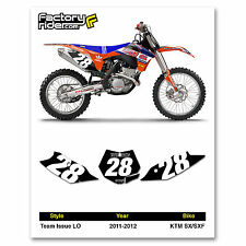 2011-2012 KTM SX/SXF Team Issue LO KTM Graphics Number Plates Made by Enjoy MFG