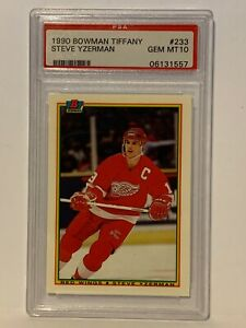 Steve Yzerman 1990 Bowman Tiffany PSA 10 GEM MINT