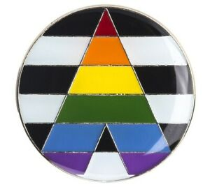 STRAIGHT ALLY Flag Lapel Pin - LGBT Gay Pride - Show Your Support