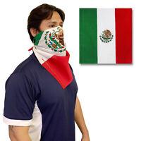 1 Dozen Mexico Mexican Flag Bandana Pack 100% Cotton Head Wrap Scarf Patriotic