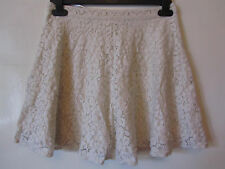 Short Cream Floral Lacey TopShop Skirt in Size 8