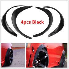 4Pcs Flexible Black Polyurethane Car Automobile Exterior Fender Flares Black