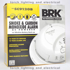 NEW First Alert - BRK SC9120B SMOKE & CARBON MONOXIDE ALARM WITH BATTERY BACK-UP