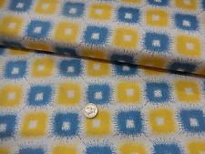 "Art Gallery Fabrics Cleta  retro 60""s squares print 100% Cotton half metre"