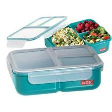 Russbe Lunch Bento 3 Compartment Navy Charcoal 1.5l