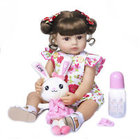 "22"" Baby Doll Reborn Toddler Girl Doll Full Body Silicone Soft Real Touch Dolls"