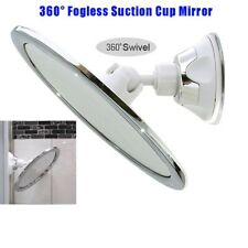New 360° Suction Cup Anti-Fog Bathroom Shower Makeup Shave Fogless Free Mirror
