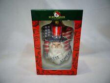 KURT S ADLER God Bless America Uncle Sam Christmas Ornament Glass