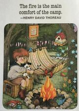 Mary Engelbreit Handmade Magnet-The Fire Is The Main Comfort of the Camp
