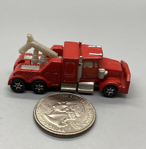 Hot Wheels Planet Micro City Streets Series 1 Tow Truck Red, 1997 Mattel