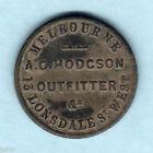 Australia Token. Hodgson 1/2d 1862.. Melbourne Vic.. aVF/Fine