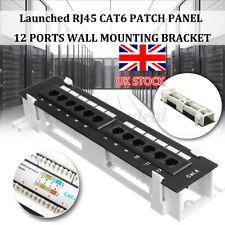 CAT6 12 Port Patch Panel  Networking Wall Mount Rack Mount Bracket Hot UK @UK!