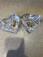 Elegant Heart Shaped Crystal Candlestick Holders for Candles