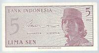 Banknote Indonesien / Indonesia - 5 Sen - 1964 - unc
