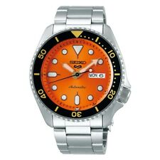 Seiko 5 Sports Full SS Orange Dial Black Bezel 42.5mm Automatic Watch SRPD59K1