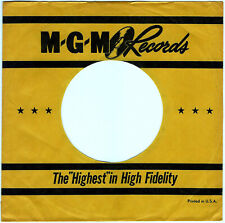 M - G -M RECORDS COMPANY 45RPM SLEEVES - (LOT OF 2) - EXCELLENT CONDITION