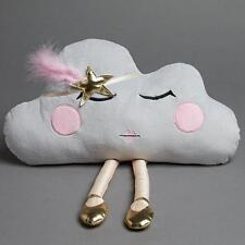 NEW Jiggle & Giggle Swan Princess Grey Cloud Novelty Cushion