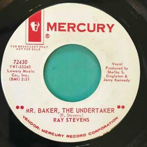 RAY STEVENS Mr. Baker The Undertaker / Old English Surfer MERCURY DJ PROMO 1965