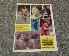 321) Liverpool  v Arsenal fa cup semi final replay 16-4-1980