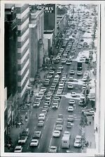 1966 After Christmas Traffic Clogged Downtown Charlotte Roads Traffic Photo 7X9