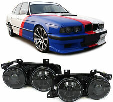 SMOKED PROJECTOR HEADLIGHTS HEADLAMPS FOR BMW E34 5 SERIES & E32 7 SERIES