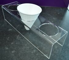 Chip Cone Holder Clear Acrylic Counter Display Stand Fries Cafe Fish & Chip Shop