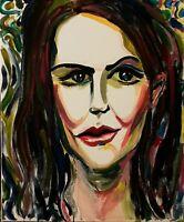 ORIGINAL acrylic Gemälde Painting Female portrait expressionism Realismus