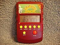 VINTAGE RADIO SHACK BLACK JACK HANDHELD ELECTRONIC GAME 60-2695 MAROON - NICE