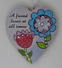 zzbd A friend loves at all times simple Love Heart Ornament ganz