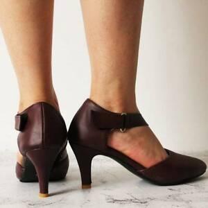 Women Sandal Heel Shoes Various Sizes Ladies Hollow Ankle Strap Buckle Line