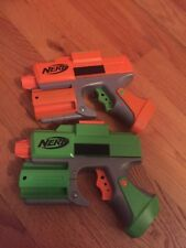 Nerf Orange and Green Strikefire/Crossfire Dart Tag Blaster Lot of 2 Guns