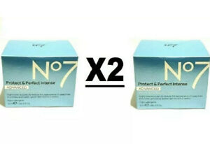 NEW 2X No7 Protect & Perfect Intense ADVANCED Night Cream Whitening 50ml