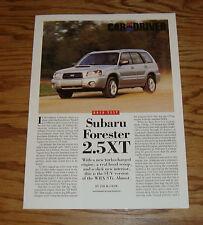 2004 Subaru Forester 2.5XT Car and Driver Sales Brochure 04