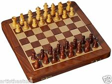 "Artist Haat 10.5"" Wooden Unique Magnetic Chess Pieces and Board Set"