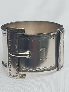 Rare Australian Sterling Silver Napkin ring