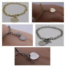 Combination of 3 Bracelets with Heart (Engraved Alphabet) & Special Charms