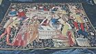 """FRENCH LARGE RENAISSANCE REVIVAL LEVALLIERE WOVEN WALL TAPESTRY 85""""W x 63H"""