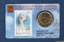 Vatican 2011 50 Centimes D'Euro BU FDC Coin Card N°1 - Vaticano