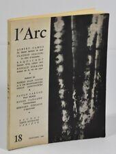 Revue L'Arc, n°18.  Les cahiers méditerranéens, 1962. Camus, Vailland et al.