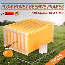 7pcs Free Flow Honey Hive Frames Food-grade Beekeeping BPA-free Harvesting Frame