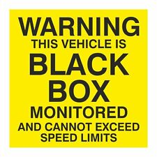 Warning this vehicle is black box monitored sticker 150mm x 150mm
