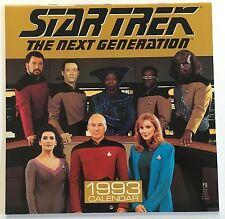 STAR TREK THE NEXT GENERATION 1993 CALENDAR - Patrick Stewart, Brent Spiner