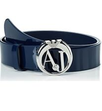 NWT Armani Jeans Womens AJ Logo Buckle Patent Leather Belt Size 77/92