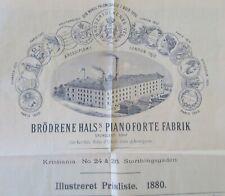 Catalogue PIANO FORTE 1880 tarif Katalog catalog
