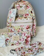 Brand New Disney Loungefly Beauty and the Beast Floral Belle Pink Mini Backpack