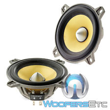 "FOCAL W/ES100K 4"" 60W RMS 4 OHM ELITE K2 POWER MIDRANGE DRIVERS CAR SPEAKERS NEW"