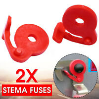 2pcs/Set RED Stema Fuses For Side Wall Lock Trailer Basic Replacement Plastic #%