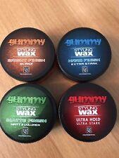 GUMMY STYLING WAX. HARD FINISH, BRIGHT FINISH,ULTRA HOLD,MATTE FINISH 4 X 150 Ml